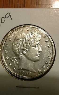 1909 Barber Half Dollar!!! Borderline Uncirculated