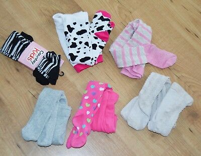 Girls bundle baby tights new Country Kids used Mothercare size 1-2 years 12-24 m