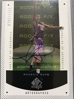 2002-03 SP Authentic - #150 - Autographed Rookie F/X - Amar'e Stoudemire