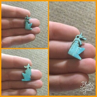 Very Rare Ancient Egyptian Blue Horus Amulet, Armana Period 1353-1336 B.C.
