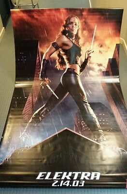 Jennifer Garner, Elektra, Daredevil, original movie vinyl poster banner 5x8