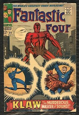 Marvel Fantastic Four ''klaw The Murderous Master Of Sound'' #56 Comic Book