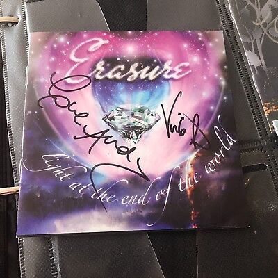 Erasure Light at the end of the World hand signed autographed CD insrt Andy Bell