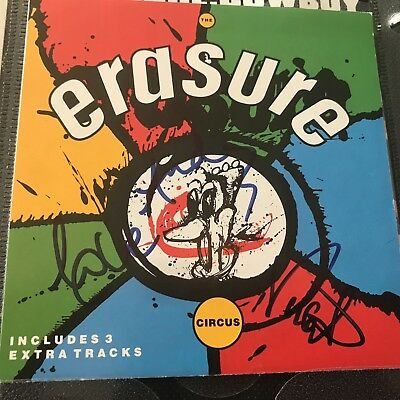 Erasure The Circus hand signed autographed CD insert Andy Bell Vince Clarke