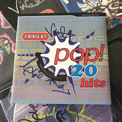 Erasure Total Pop Pop! hand signed autographed CD insert Andy Bell Vince Clarke