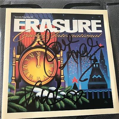 Erasure Crackers International Stop! hand signed autographed CD insert Andy Bell