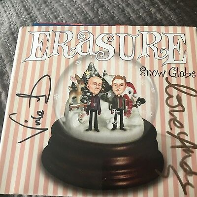 Erasure The Snow Globe hand signed autographed CD cover Andy Bell Vince Clarke