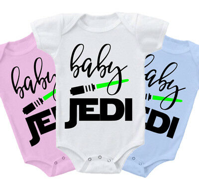 Baby Jedi funny star wars inspired Grow Body Suit Vest gift present cute sith z1