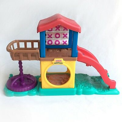 Fisher Price LITTLE PEOPLE Fun Sound PLAYGROUND Retro 2003 Fully Working