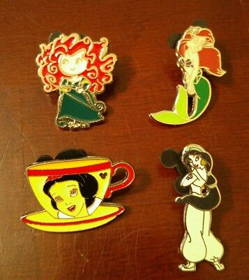Disney Pins - Set of 4 Disney Princess pins