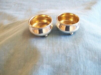 Lot Of 2-Sterling Silver Footed Salt Cellars