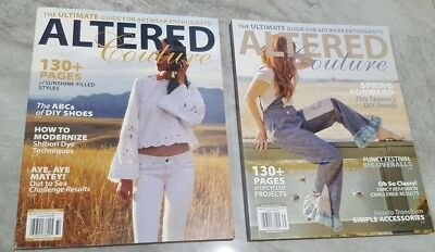 Altered Couture Magazines, Lot of 2, 2017 Issues, NEW