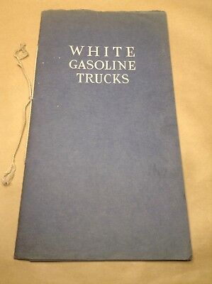 Vintage White Gasoline Truck And Delivery Wagon Catalog C.1910 Original Nice