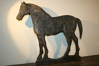 Antique Crescent Tail Horse Windmill Weight Old Primitive Cast Iron Weathervane