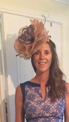 large fascinater..bespoke brand new never worn. Nude with cobalt lace detail