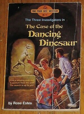 Find Your Fate ~ Three Investigators ~ Case of the Dancing Dinosaur ~ vintage