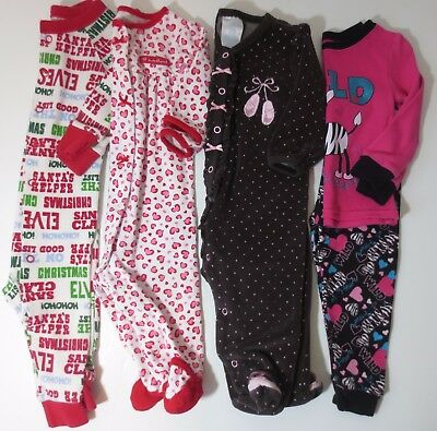 LOT Baby Girls Size 6-9 9 12 18 Months Fall Winter Pajamas
