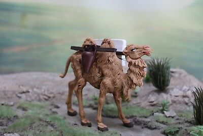 "5"" Fontanini Nativity STANDING CAMEL w/ ANIMAL BACKPACK - Depose Italy 1983"
