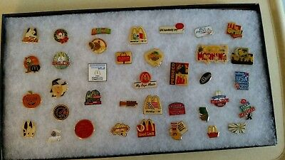 Lot of 37 McDonald's Pins including many employee pins