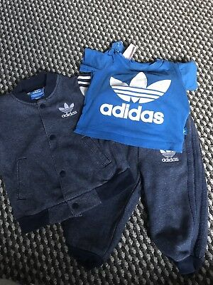 Baby Boys Adidas Tracksuit 6-9 months