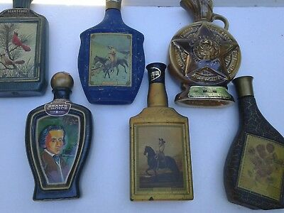 Lot Of 6 Old Liquor Bottles In Very Good Condition