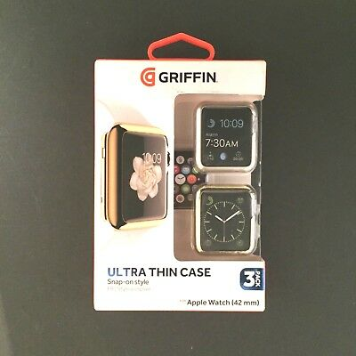 Griffin Ultra Thin Case Snap on Style for Apple Watch 3 Pack (42mm)