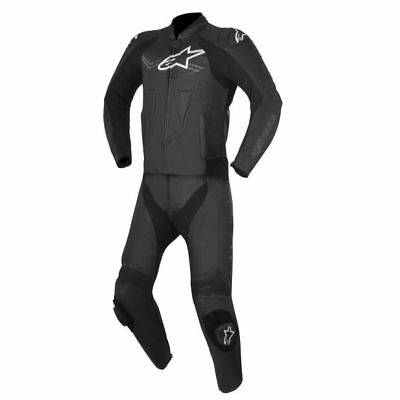 Alpinestars Challenger V2 two piece leather suit black