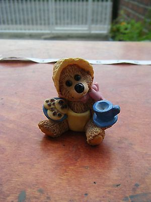 Cub Club Baby Teddy Bear Ornament Figurine 'time For Tea' 1997
