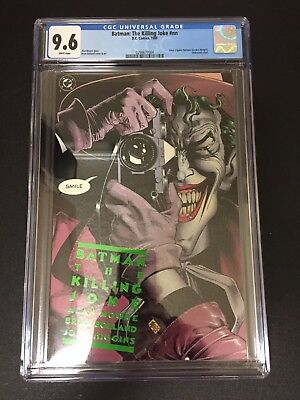 Batman The Killing Joke 1 !! Cgc 9.6 !! Iconic Cover !! White Pages !!