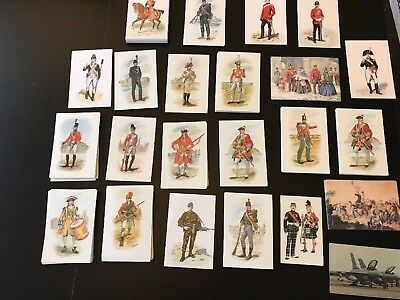 Huge bundle of loose unused postcards military uniform themed. More than 260