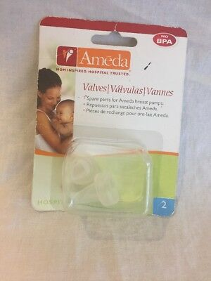 Ameda Breast Pump Valves  #17146M Clear No BPA Set of 2 NEW in Package