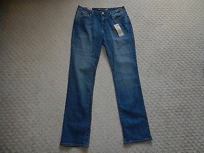 NEW Womens LEVI'S Bold Curve Classic Rise Straight Jeans Tall SIZE 12 34