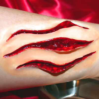 Claw / slash wound! #2 Deep and detailed latex scar for Halloween, UK Artist