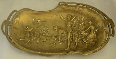 Large Bronze Wall Plaque or Card Tray: Diana the Huntress