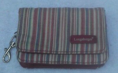 Awesome Stripped Longaberger Coin Purse
