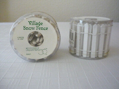 Lot of 2 Dept 56 Village Snow Fence White Wooden Pickets #5265-7