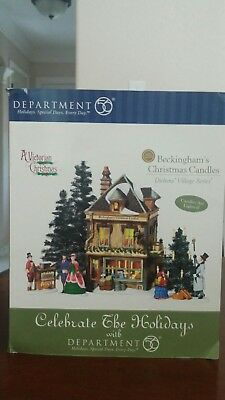 Dept 56 BECKINGHAMS CHRISTMAS CANDLES Lighted Snow Village House 58748 Lemax