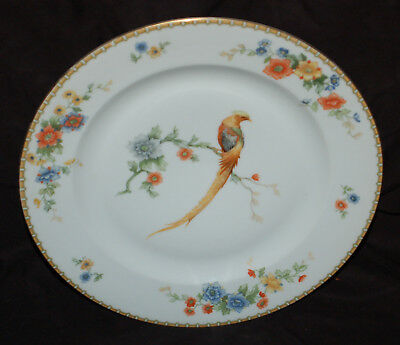 "MZ Altrohlau 9-3/4"" Dinner Plate Golden Pheasant  Combined Shipping Available"