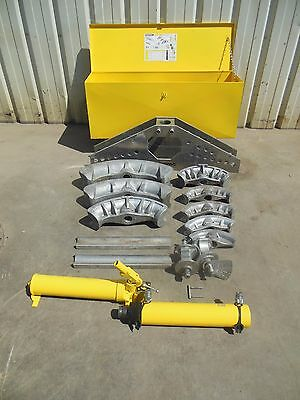 "Enerpac One Shot Pipe Bender 1""-4"" Hydraulic Bending Set Ridgid Greenlee"