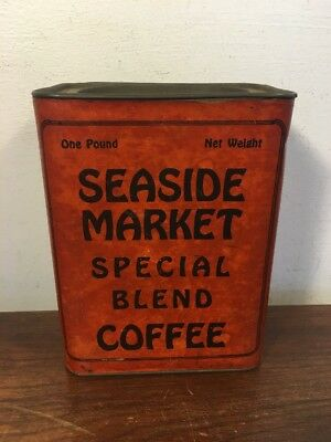 Rare Seaside Market Coffee Tin Can Special Blend Seaside Heights NJ