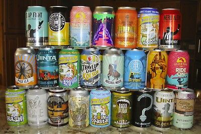 24 Different Craft Micro Brew Beer Cans