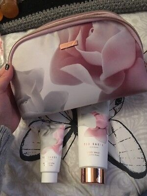 Ted Baker BEAUTY CASE Gift Set Bag Inc. Body Wash 200ml & Body Lotion 50ml