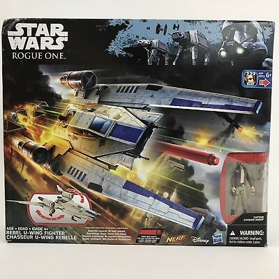 Star Wars Nerf Rogue One Rebel U-Wing Fighter Captain Cassian Andor New in box