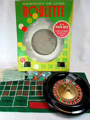 Vintage 1950's Bar-Zim Newport Deluxe Roulette wheel game set