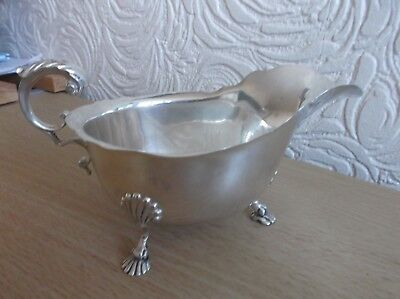 Antique Solid Silver Sauceboat Dublin 1912