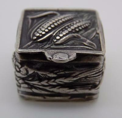 Vintage Solid Silver Microscopic 1 or 2 Pill Box - Stamped - Made in Italy