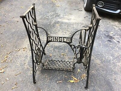 Sewing Machine Singer Metal Base Legs Table Vintage Repurpose Cast Industrial