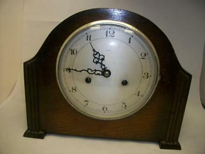 Fine, Vintage, Oak Cased, 8 Day, Chiming Mantel Clock by Enfield  (0193-CC)