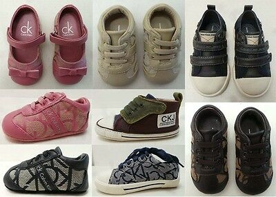 CALVIN KLEIN DESIGNER baby shoes, many styles, many sizes RRP £40