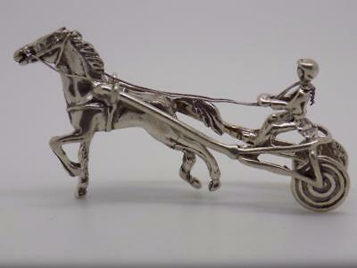 Vintage Solid Silver Racing Horse Miniature - Stamped* - Made in Italy -Figurine